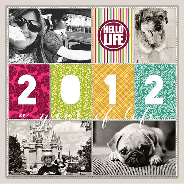 29 coisas: terminar as páginas do Project Life 2012