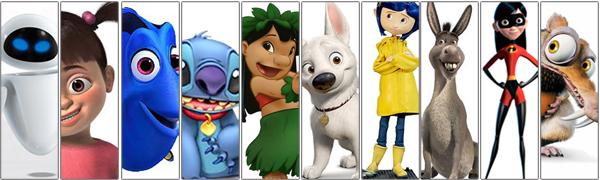 Top10 – personagens de animações